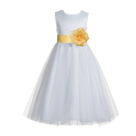 Ekidsbridal v back lace edge white flower girl dresses silver ekidsbridal v back lace edge white flower girl dresses silver baptism dress birthday girl dress ball gown communion dresses 183t walmart mightylinksfo