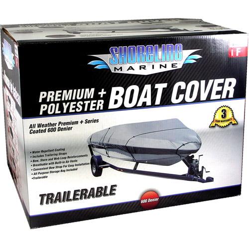 Shoreline Marine Boat Cover, Silver Polyurethane