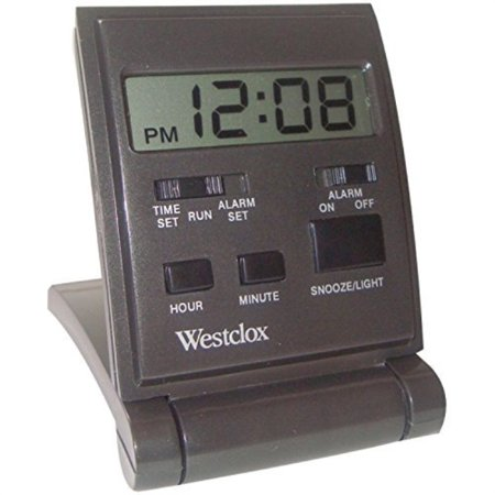WESTCLOX 47508 Digital Folding Travel Alarm Clock with Backlight (Alarm Clock Analog And Digital)
