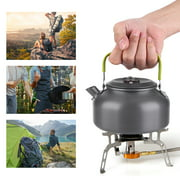 TOPINCN 800ML Outdoor Portable Coffee Pot Camping Water Kettle Hiking Picnic BBQ Teapot, Picnic Teapot, Outdoor Water Kettle