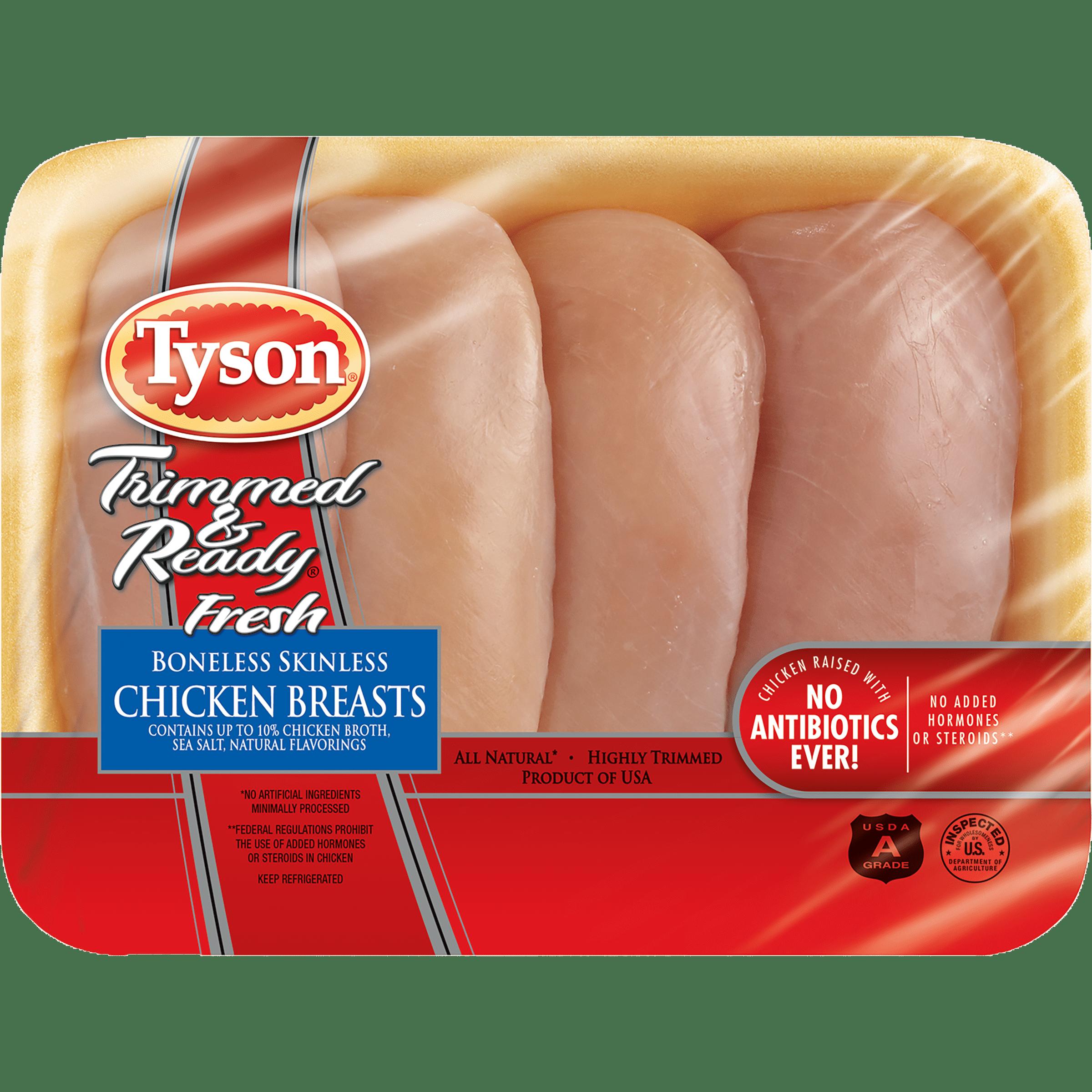 Tyson® Trimmed & Ready Fresh Boneless Skinless Chicken Breasts, 1.2-1.8 lb