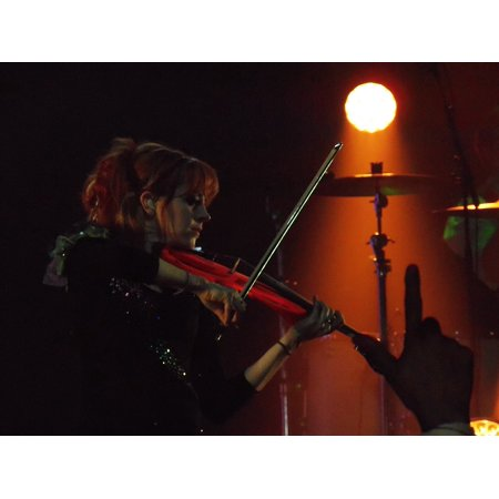 Peel-n-Stick Poster of Lindsey Stirling Talented Music Techno Dancing Poster 24x16 Adhesive Sticker Poster -