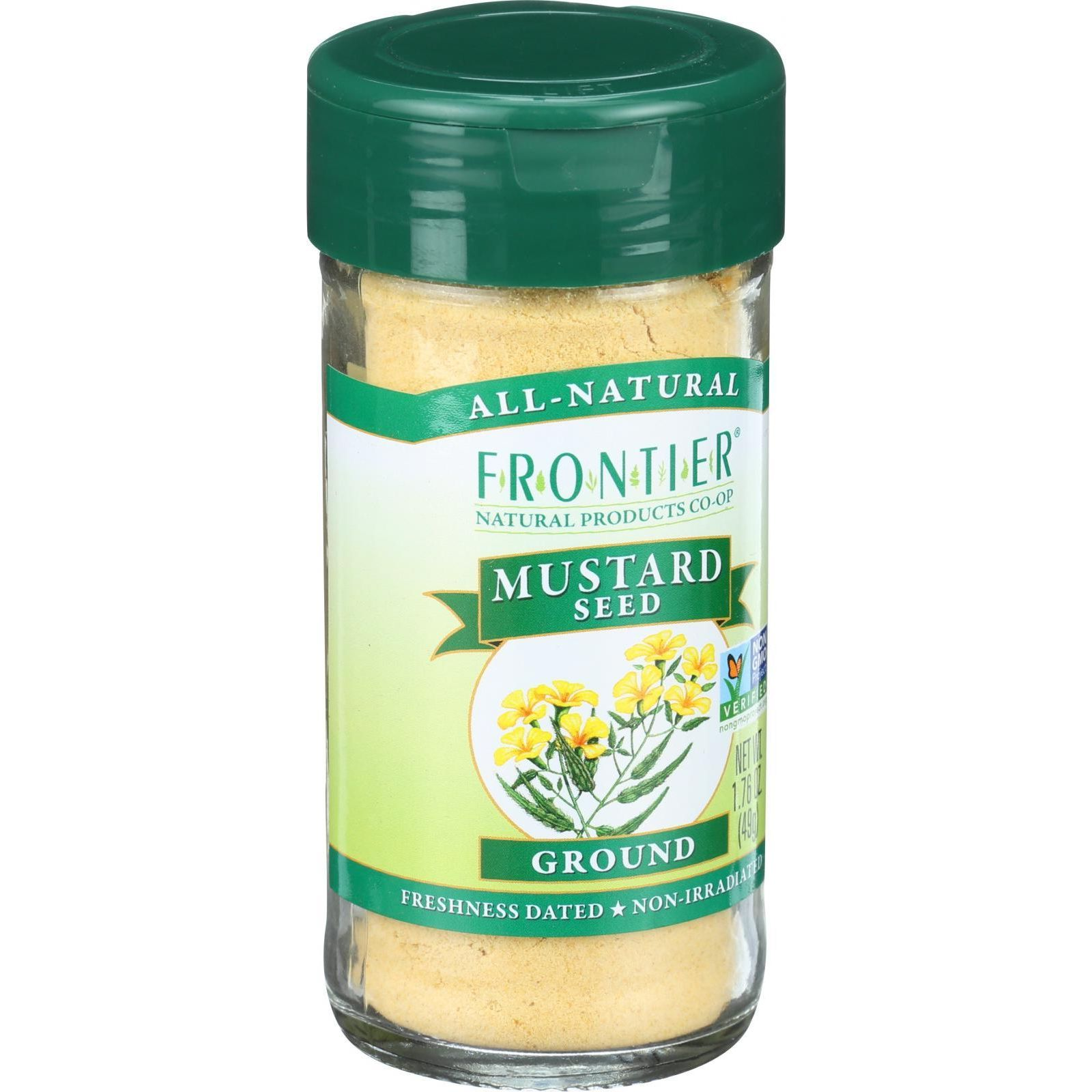 Frontier Herb Mustard Seed - Yellow - Ground - 1.76 oz