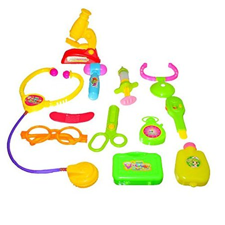 Small Doctor Bag - 12 Piece Doctor Kit | Little Doctors Kit with Adorable Accessories: Stethoscope Thermometer Syringe Water Bag and More