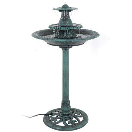 ZENY 3 Tier Bird Bath Fountain With Pump Garden Patio Outdoor Decor