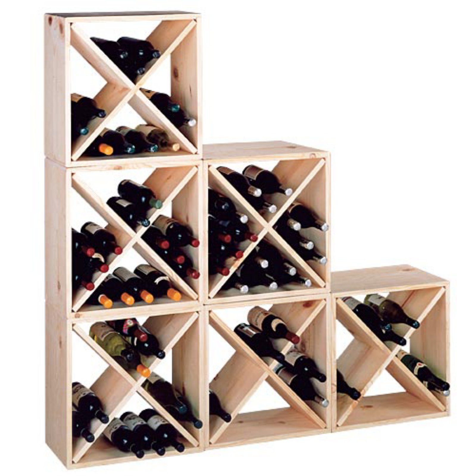 Country Pine Series Storage Wine Cube