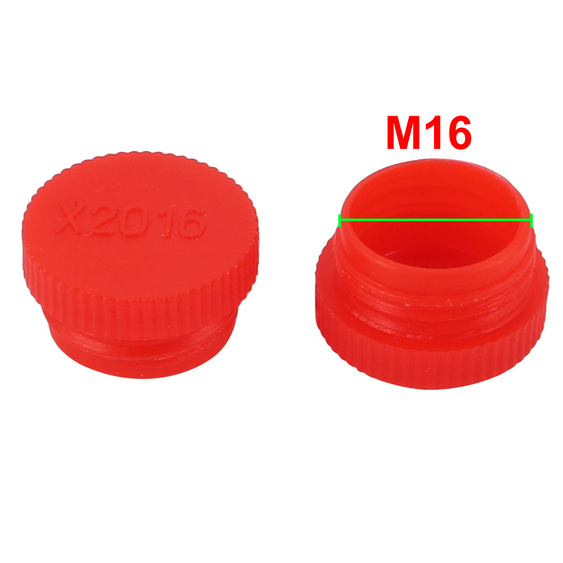 42pcs M16 x 1.5mm PE External Threaded Tube Insert Cap Screw-in Cover Red - image 1 of 2
