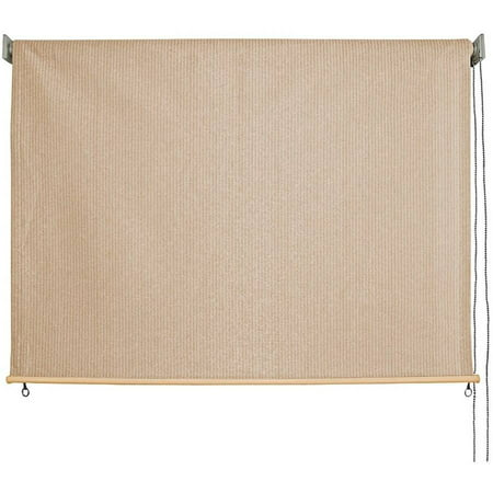 Keystone Fabrics 8' x 6' Cord Operated Outdoor Sun Shade, Snowmass (Out Side Shades)