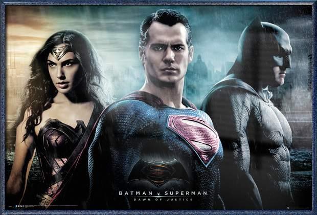 "Batman Vs. Superman: Dawn Of Justice Framed Movie Poster   Print (Batman, Superman & Wonder Woman) (Size: 36"" x... by"