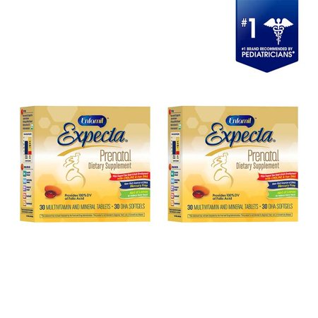 (2 Pack) Enfamil Expecta Prenatal Multivitamin and DHA Supplement, 60 Tablets