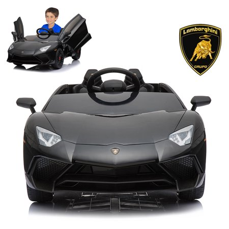 12V Electric Ride On Car With 2.4G Remote Control, 2019 Latest Model Aventador SV Roadster LP750-4 With Openable Doors,  MP3, USB - Electric Car Models