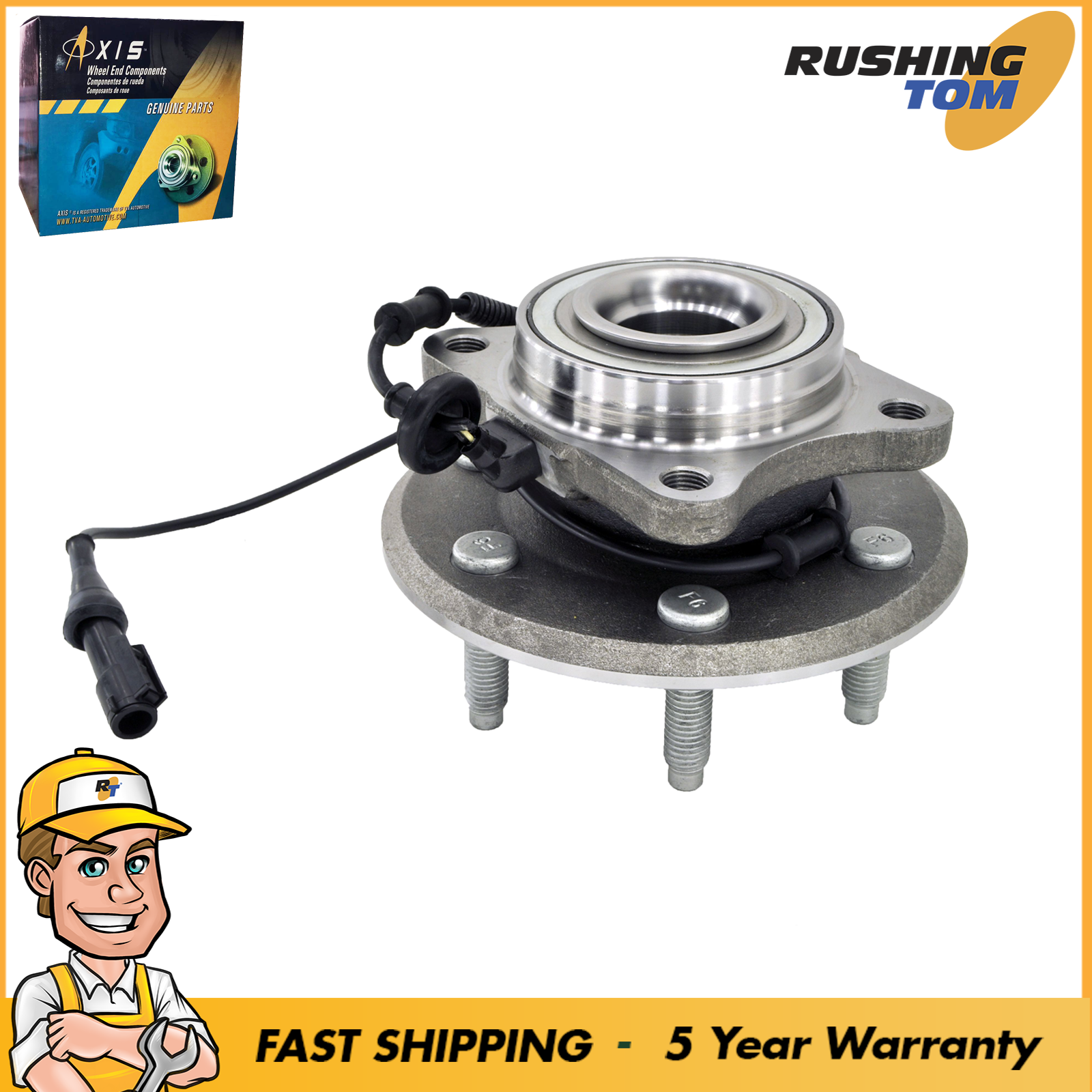 Axis Wheel Hub and Bearing Assembly Rear Driver / Passenger With 5 Year Warranty