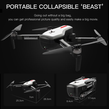 7a85e1b6a2793 SG906 GPS Brushless 4K Drone with Camera 5G Wifi FPV Foldable Optical  Positioning Altitude Hold RC Quadcopter with 3 Battery