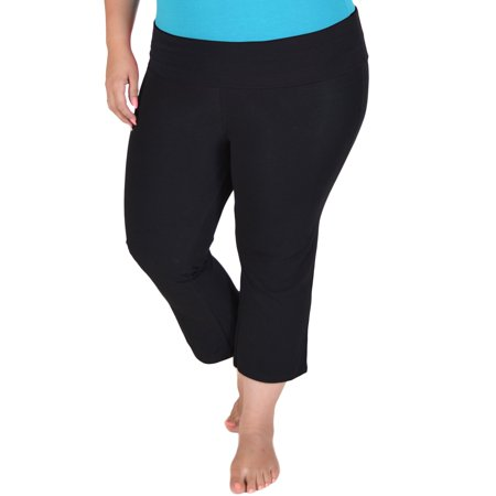 071a0fb4c7 Stretch Is Comfort - Stretch is Comfort Women s PLUS SIZE CAPRI Yoga Pants  - Walmart.com