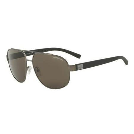 Armani Aviator Sunglasses - Armani Exchange Men's AX2019S-608873-60 Grey Aviator Sunglasses
