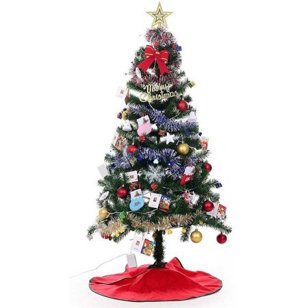 Xmas 4' Finest Super Premium Artificial Charlie Pine Christmas Tree with Metal Legs, Fullest (300 Tips) Design ()
