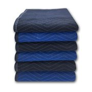 """uBoxes 6 Supreme Quality Moving Blankets 72""""x80"""" 85# Strength"""