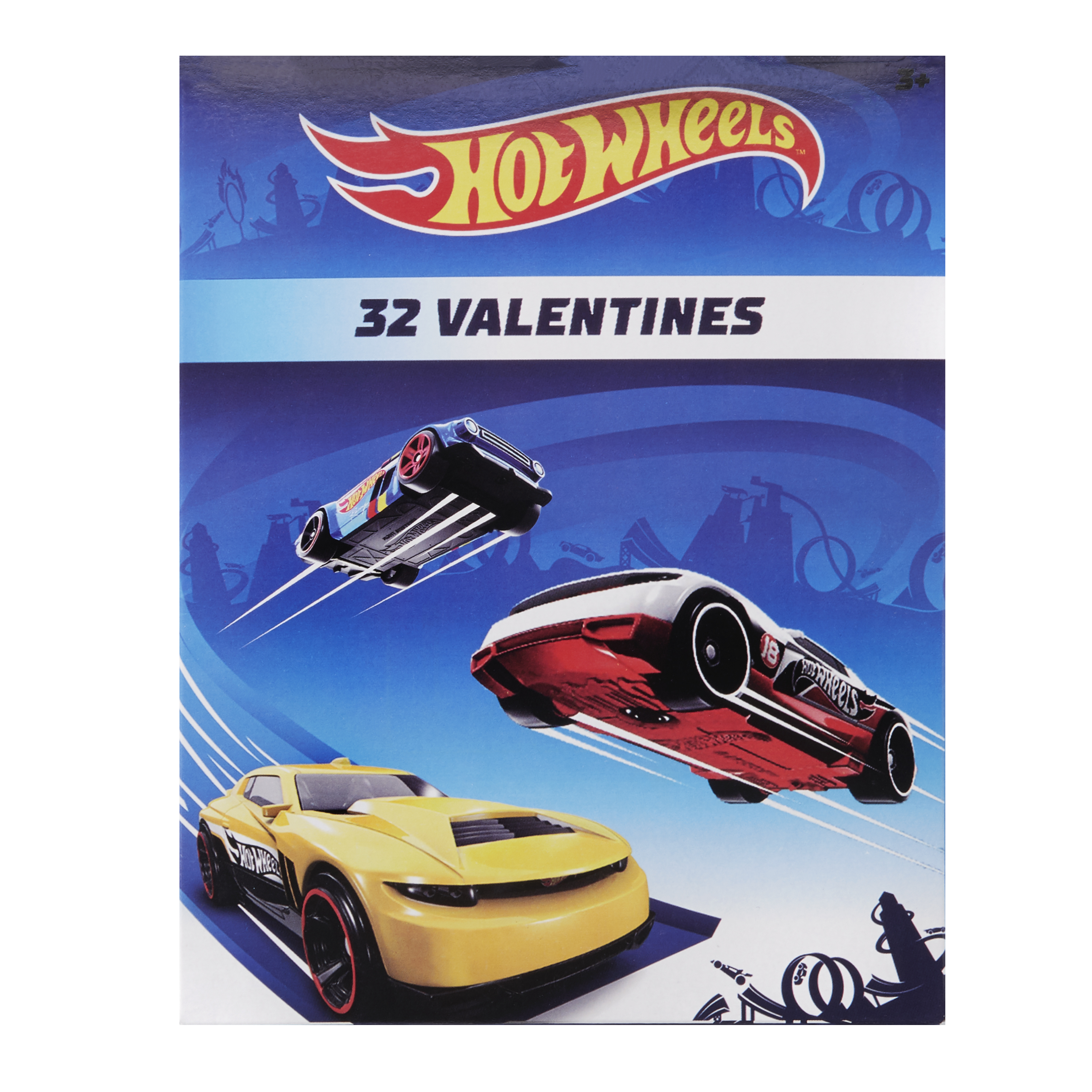 Hot Wheels Valentine's Day Cards, 32 Count