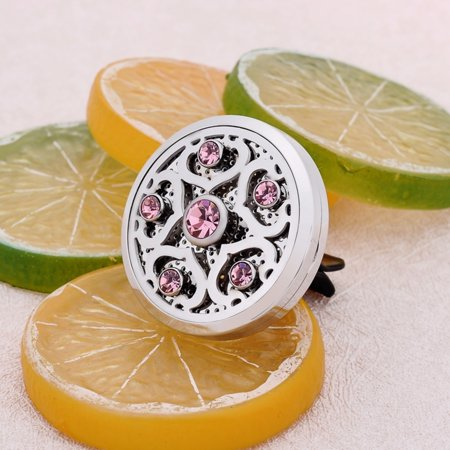 Crystal Diffuser - Car Vent Clips Sea Star Pink Crystal Aroma Perfume Essential Oil Diffuser Locket