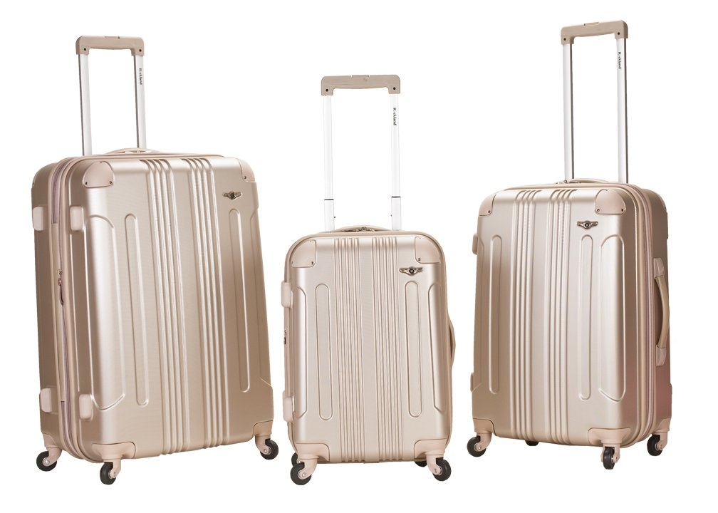 Rockland 3-Piece Sonic ABS Upright Luggage Set - Walmart.com