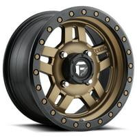 "Fuel D583 Anza UTV 15x7 4x136 +13mm Bronze/Black Wheel Rim 15"" Inch"