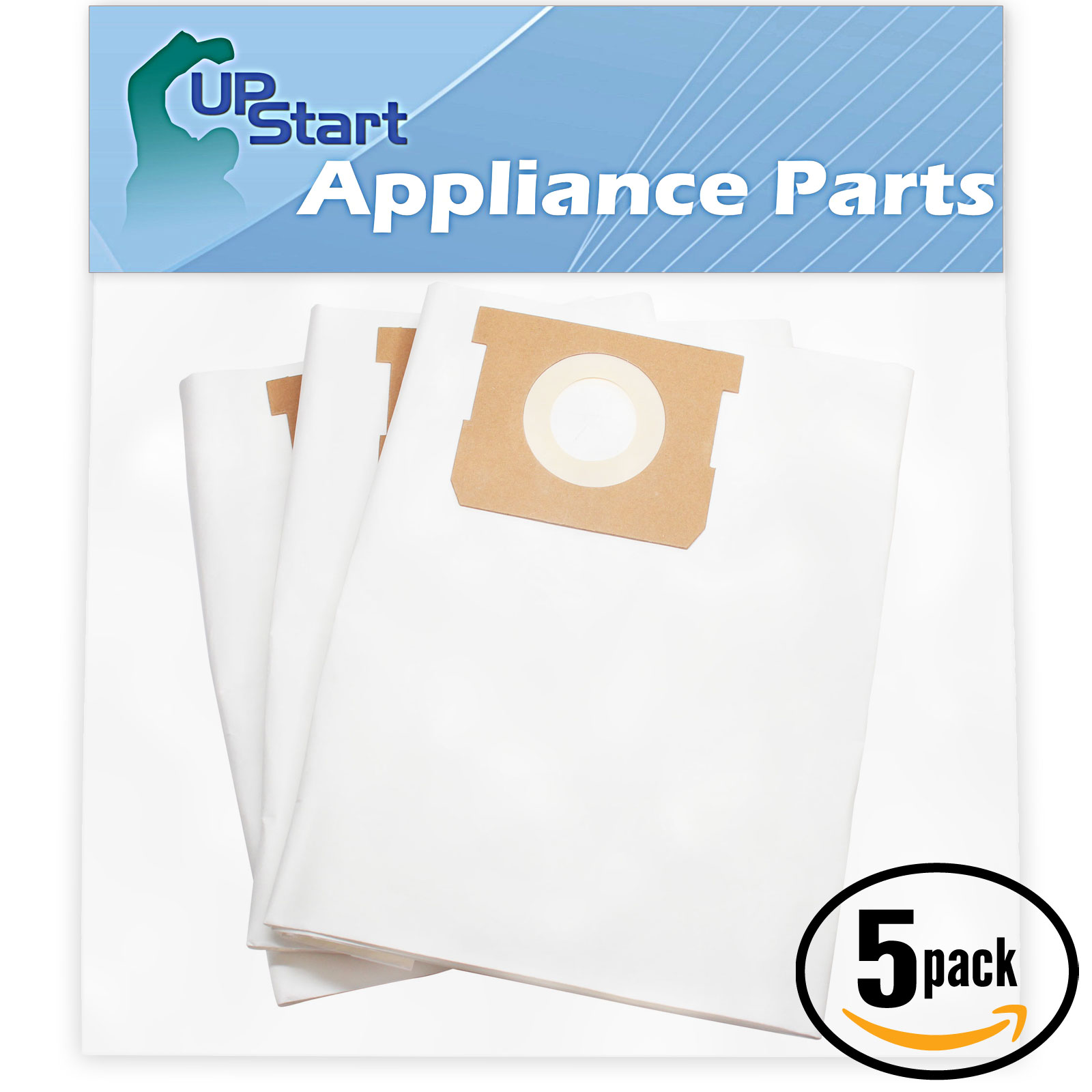 15 Replacement Shop-Vac Heavy Duty Portable 587-24-10 Vacuum Bags  - Compatible Shop-Vac 90661 Vacuum Bags (5-Pack, 3 Bags Per Pack)