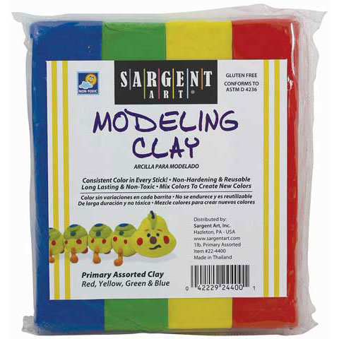 Sargent Art - Modeling Clay - White