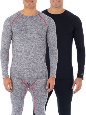 Russell Men's & Big Men's L2 Performance Baselayer Thermal Long Long Sleeve 2-Pack Top