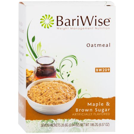 BariWise Low-Carb High Protein Oatmeal / Instant Diet Hot Oatmeals - Maple & Brown Sugar (7 Servings/Box) - Low Carb, Low Calorie, Low Fat, Aspartame Free