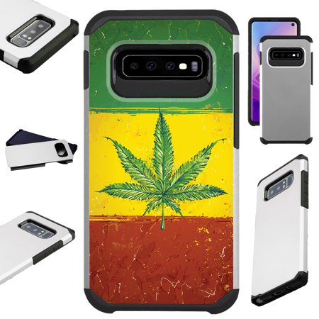 Compatible Samsung Galaxy S10 S 10 5G (2019) Case Hybrid TPU Fusion Phone Cover (Weed Nation