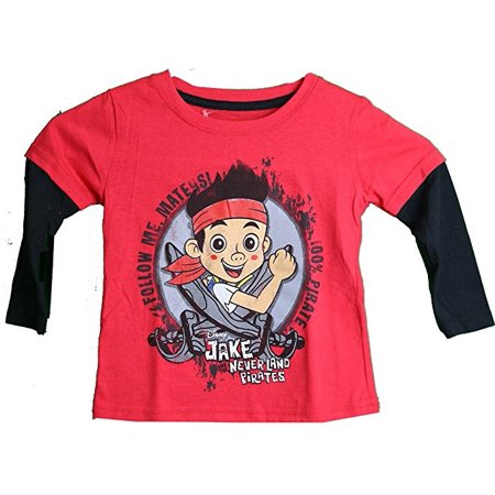 Disney Jake and the Neverland Pirates Layered Long Sleeve Toddler T-Shirt (3T)