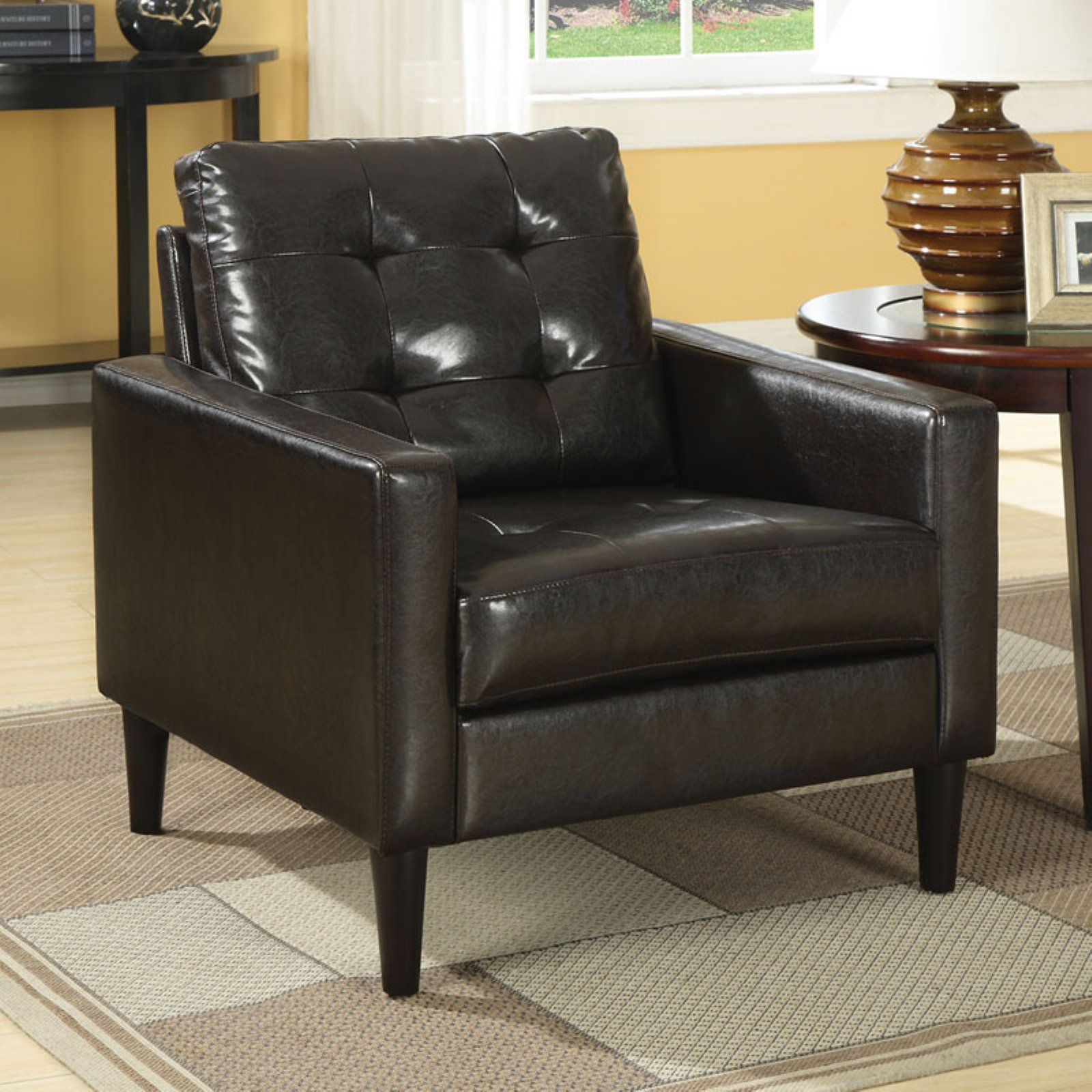 Acme Balin Accent Chair, Faux Leather, Multiple Colors by Acme Furniture