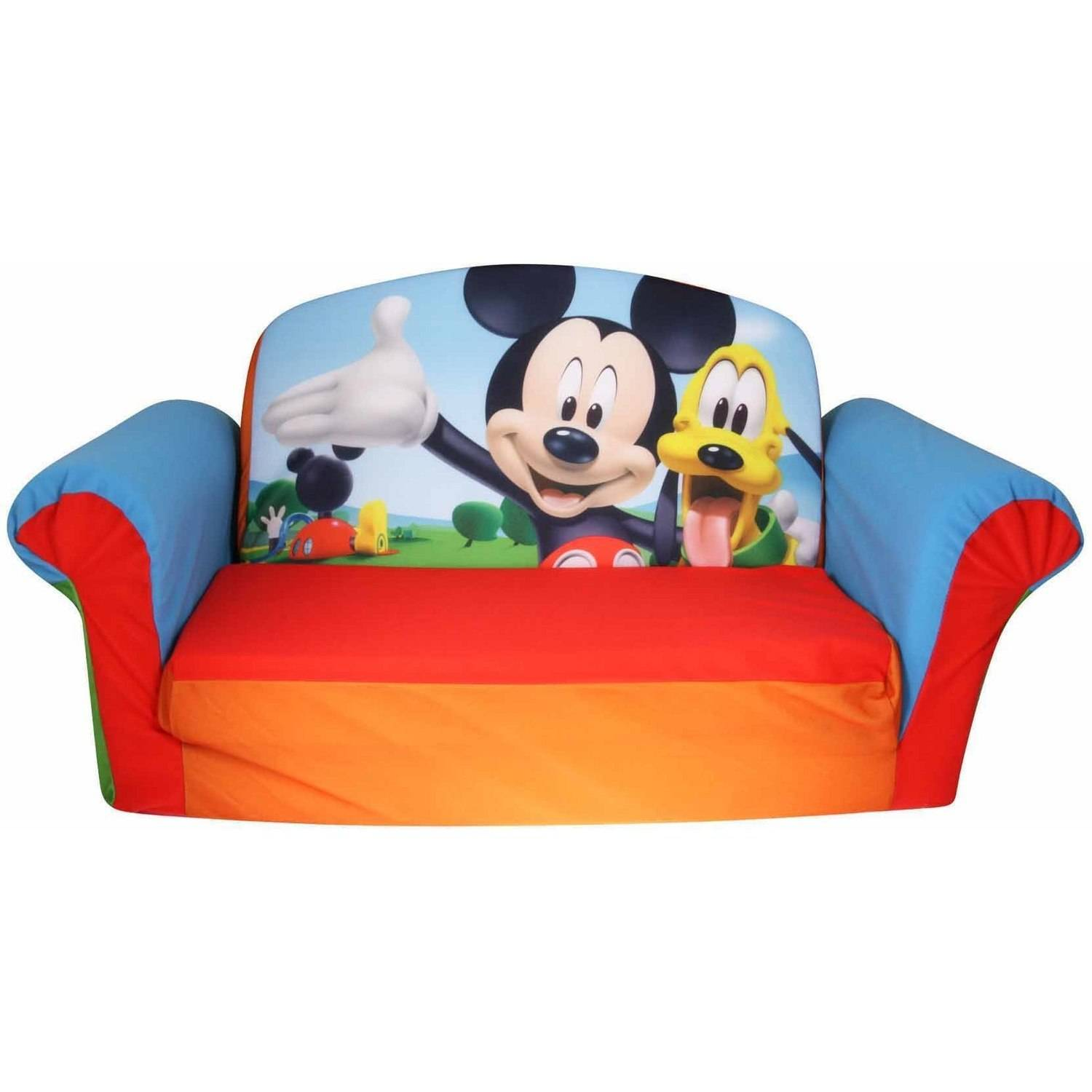 Marshmallow Furniture 2-in-1 Flip Open Sofa, Mickey Mouse Club House