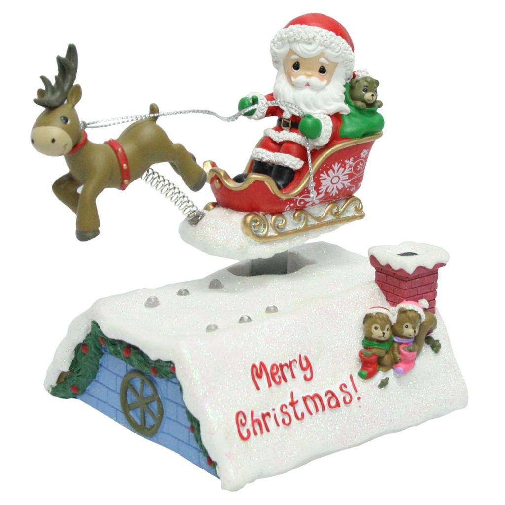 Precious Moments 02853 - Santa In Sleigh Deluxe Musical LED