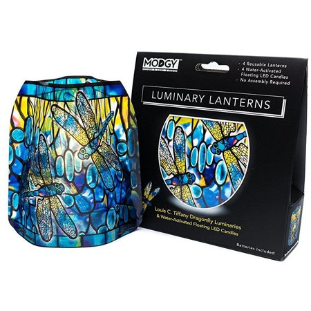 Modgy Lumizu Collapsible 4pc Luminary Lantern Set - Tiffany - Paper Luminaries
