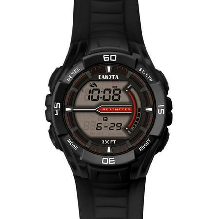 Black CS Pedometer Watch