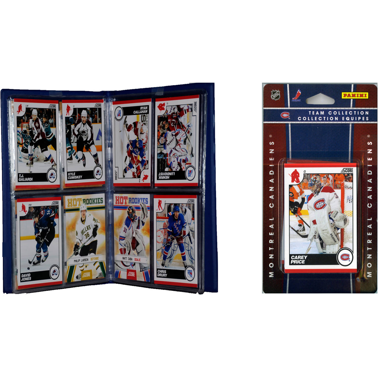 C&I Collectables NHL Montreal Canadiens Licensed 2010 Score Team Set and Storage Album