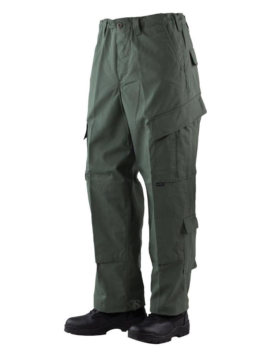 TRU Trousers Olive Drab 50/50 Nylon, Cotton Rip-Stop, 2XLarge Long
