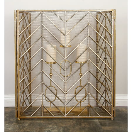 Durable Metal Fire Screen ()