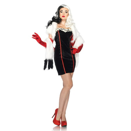 Adult Disney Princess Cruella Costume by Leg Avenue DP85076 for $<!---->