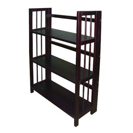 Ltd  3 Tier Folding Bookcase  Espresso ()