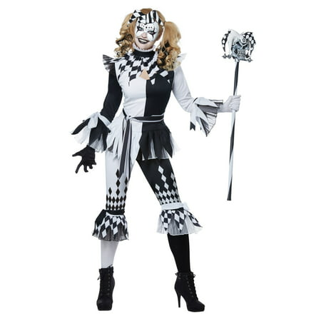 Crazy Jester Deluxe Halloween Costume - Crazy Hair Halloween Costumes