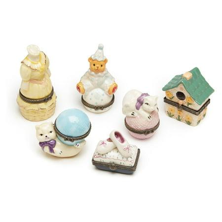 Aa Importing Porcelain Decorative Trinket Box   Set Of 6