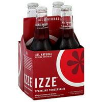 IZZE Sparkling Pomegranate Flavored Juice Beverage, 4 count, (Pack of 6)