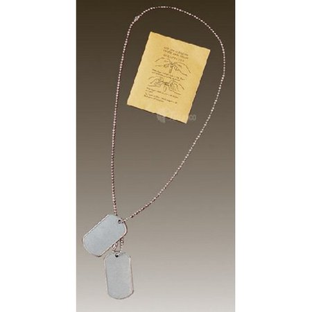 Star Dog Tag Pendant - 5ive Star Gear 4508000 GI Dog Tag 2 Piece Chain