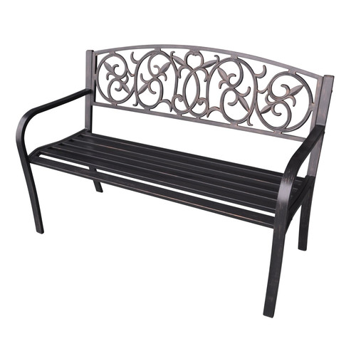 Jeco Inc. Steel Park Bench