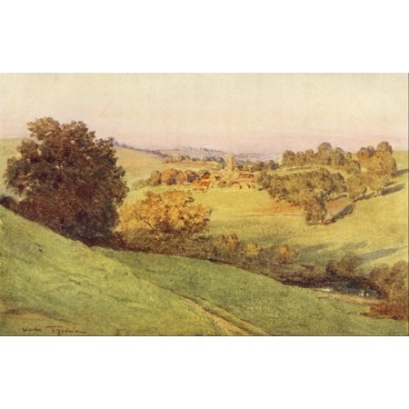 Somerset 1927 Bathford near Bath Stretched Canvas - Walter Tyndale (24 x 36)