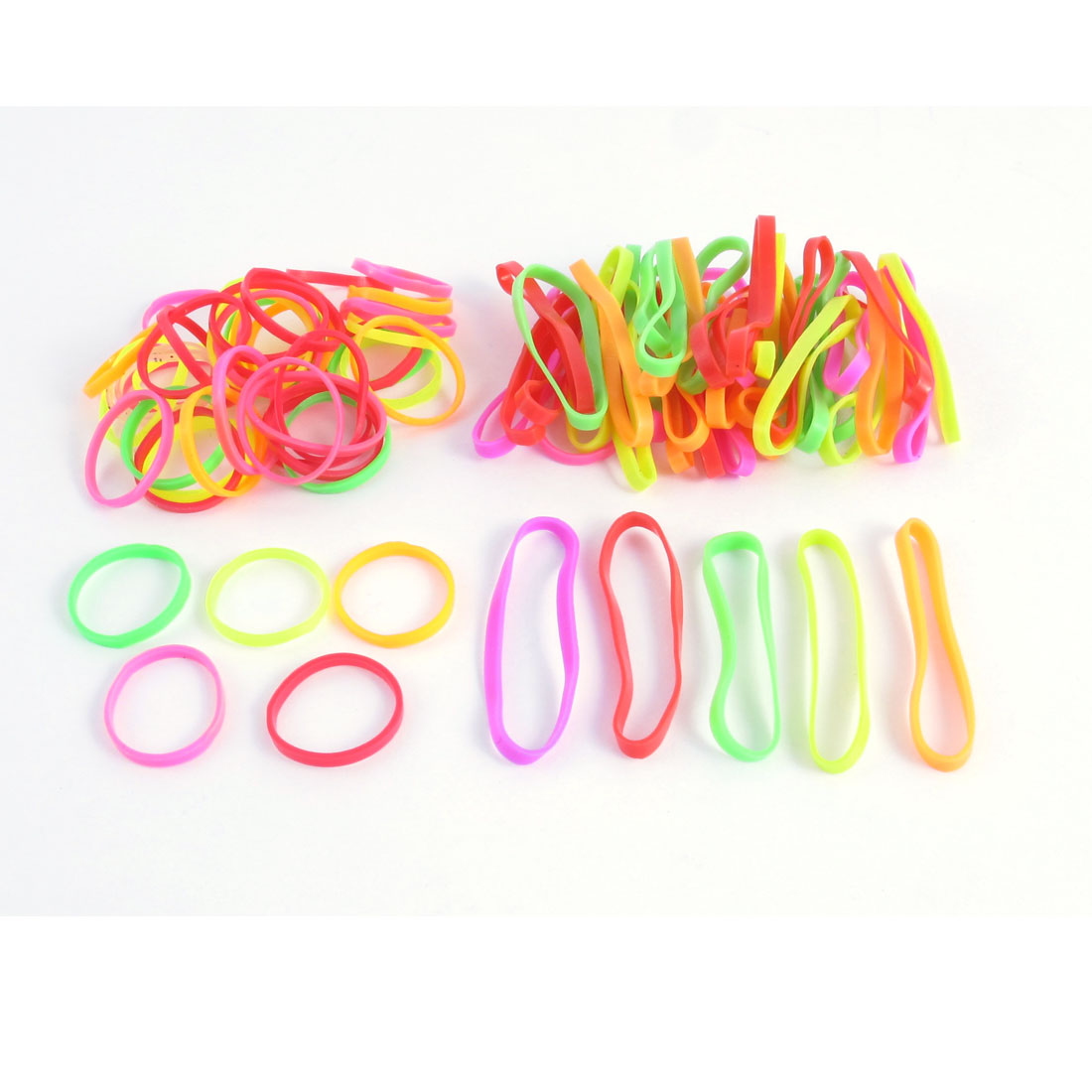 Unique Bargains 87 Pcs Rubber Elastic Hair Ties Bands Ponytail Braids Holder Hair Bands Multicolor