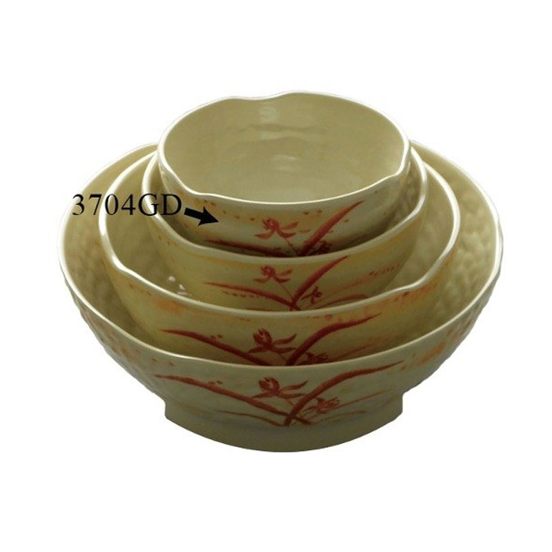 Gold Orchid 10 Oz 4 1/2 Inch Wave Rice Bowl/Set of 12