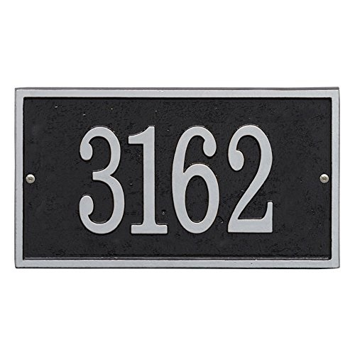 Whitehall Personalized Address Plaque Custom 1 Line Cast Aluminum Concord Oval House Number Wall Sign Antique Copper 15 W X 9 5 H Outdoor Décor Address Signs